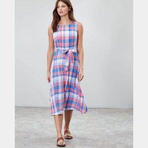 Joules Fiona Sleeveless Woven Dress Plaid Midi